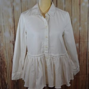 Asos Denim White Heavy Shirt Sz 6
